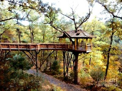 Nay Aug Park Treehouse - Scranton Pa Art Print by Janine Riley