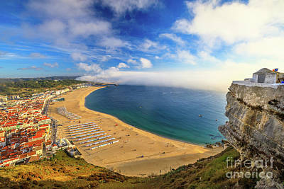 Photograph - Nazare Portugal Aerial by Benny Marty