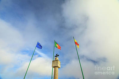Photograph - Nazare Portugal Flags by Benny Marty