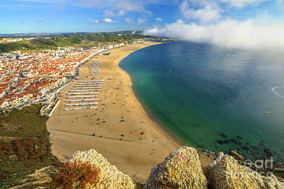 Photograph - Nazare Portugal Skyline by Benny Marty