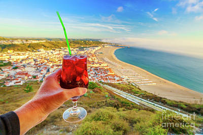 Photograph - Nazare Skyline Aperitif by Benny Marty
