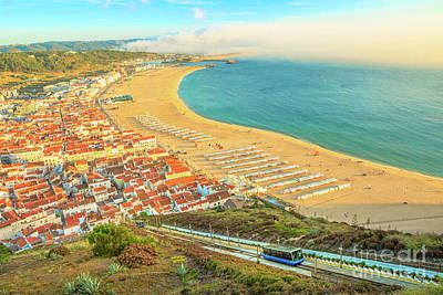 Photograph - Nazare Skyline Funicular by Benny Marty