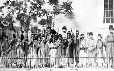 Photograph - Nazareth Boys 1924 by Munir Alawi