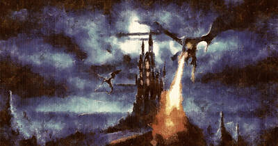 Digital Art - Nazgul On The Wing by Mario Carini