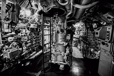 Hitler Photograph - Nazi U-boat Control Room by Daniel Hagerman