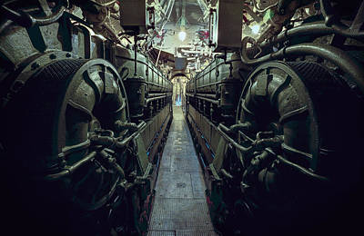 Hitler Photograph - Nazi U-boat Submarine Engine Room - World War Two by Daniel Hagerman
