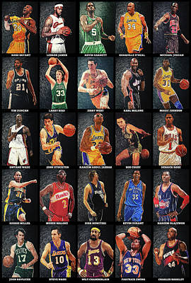 Nba Legends Art Print