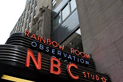 Nbc Studio Rainbow Room Sign Art Print by Lorraine Devon Wilke