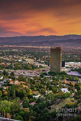 Photograph - Nbc Universal Los Angeles Sunset by David Zanzinger