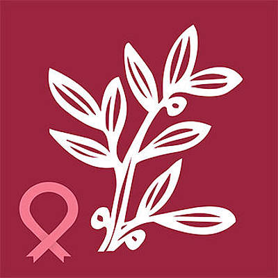Pink Flower Digital Art - Nbcf Leaf Logo by National Breast Cancer Foundation