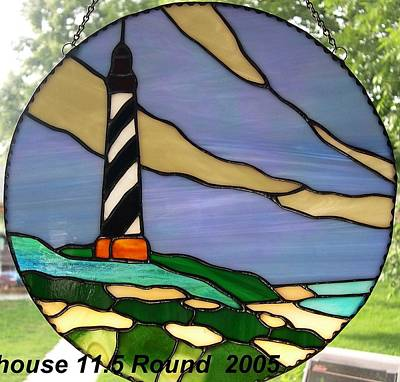 Glassart Glass Art - Nc Light House by Liz Lowder