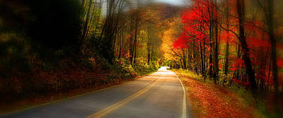 Photograph - Nc Mountain Fall Drive by Gray  Artus