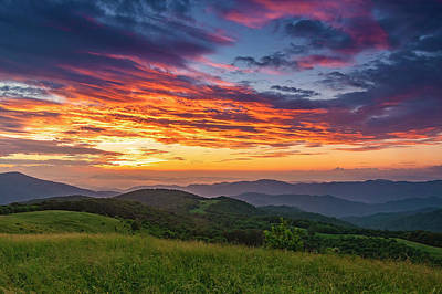 Photograph - Nc Mts Sunrise by Ulrich Burkhalter