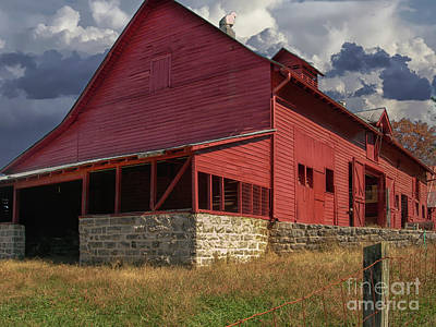 Photograph - Nc Red Barn by Dale Powell