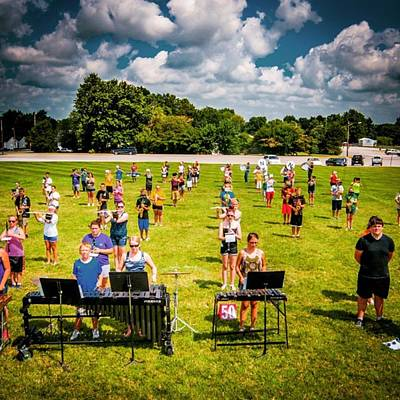 Band Photograph - Nchs Marching Band, Summer Band Camp by Alex Haglund