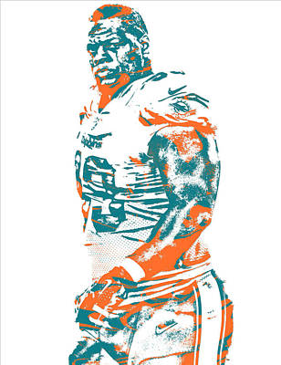 Dolphin Mixed Media - Ndamukong Suh Miami Dolphins Pixel Art 5 by Joe Hamilton