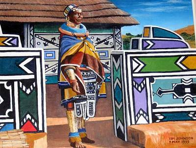 Painting - Ndebele Color by Tim Johnson