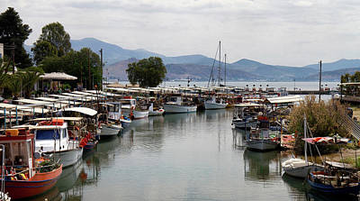 Photograph - Nea Kios Harbour by Shirley Mitchell