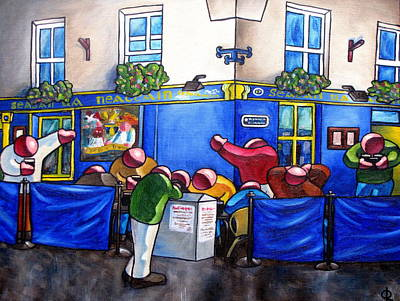 Painting - Neachtain's Pub by Olivier Longuet