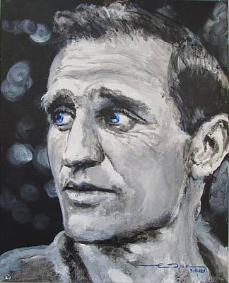 Psychedelic Drawing - Neal Cassady - On The Road by Eric Dee
