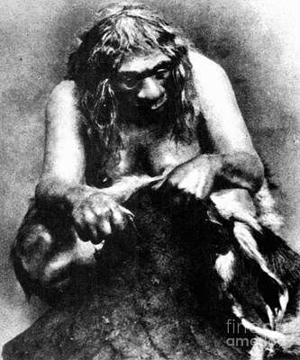 Photograph - Neanderthal Woman by Granger
