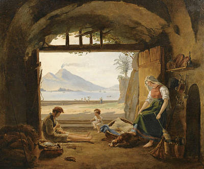 Painting - Neapolitan Fishermen In Mergellina by Franz Ludwig Catel