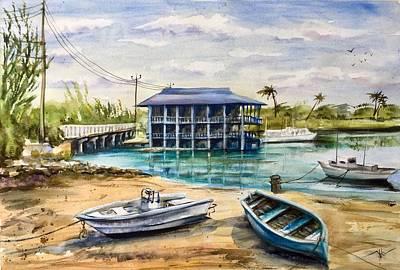 Painting - Near Arawak Cay by Katerina Kovatcheva