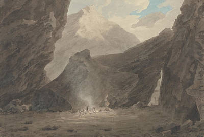 Painting - Near Chiavenna In The Grisons by John Robert Cozens