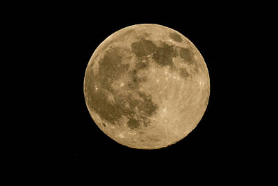 Photograph - Near Full Moon, Strawberry Moon by Kenneth Cole