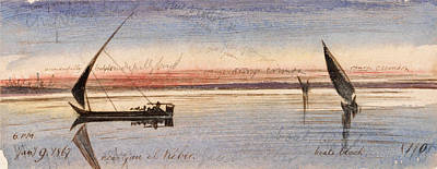 Drawing - Near Gau El Kebir by Edward Lear