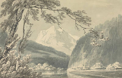 Swiss Landscape Painting - Near Grindelwald by Joseph Mallord William Turner