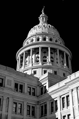 Near Infrared Image Of The Texas State Capitol Art Print by David Thompson
