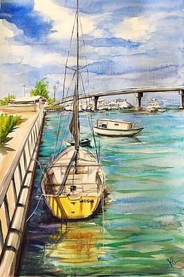 Painting - Near Nassau Hatbour by Katerina Kovatcheva