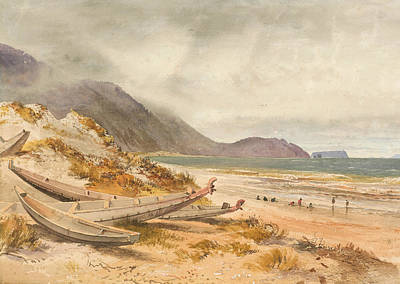 Painting - Near Paekakariki, Cook Strait by Nicholas Chevalier