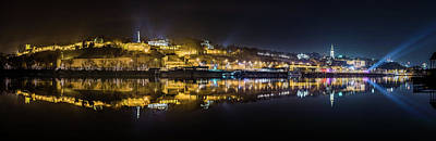 Photograph - Near-perfect Belgrade Night Reflection by Dejan Kostic