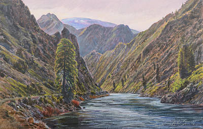 Painting - Near Placer Creek by Steve Spencer