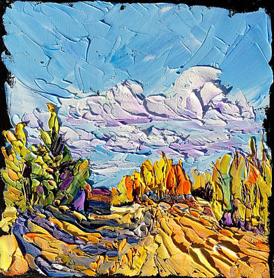 Painting - Near Red Lodge by Carrie Jacobson