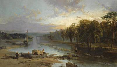 Painting - Near Richmond. Yorkshire by James Webb
