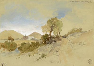 Drawing - Near San Francisco, Mexico, March 1, 1883 by Thomas Moran