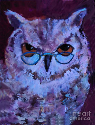 Painting - Near Sighted Owl by Diane Ursin