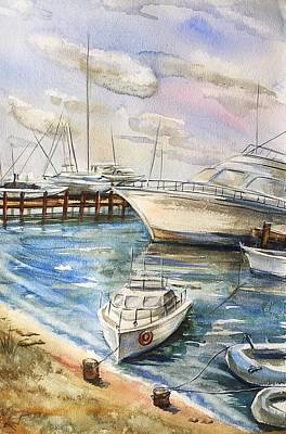 Painting - Near The Harbour 2 by Katerina Kovatcheva