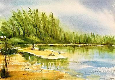 Near The Lake 4 Art Print