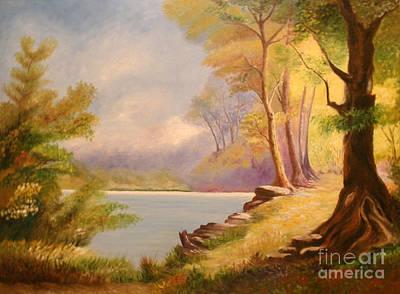 Near The Lake Art Print by Cilinha