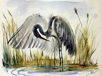 Near The Pond 3 Art Print