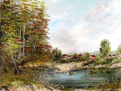 Painting - Near The Pond by Dorothy Maier