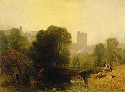 Lock Painting - Near The Thames Lock Windsor by Joseph Mallord William Turner