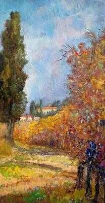Near The Vineyard - Tuscany Original