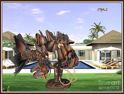 Statue Portrait Digital Art - Near Unattainable Dream 201 by Pemaro