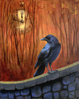 Art Print featuring the painting Nearing Midnight by Terry Webb Harshman