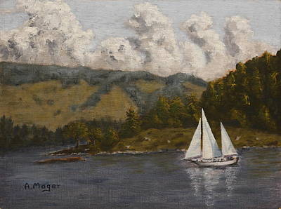 Painting - Nearing The Point by Alan Mager